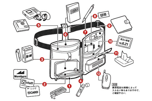 Nomadic moving option waist bag